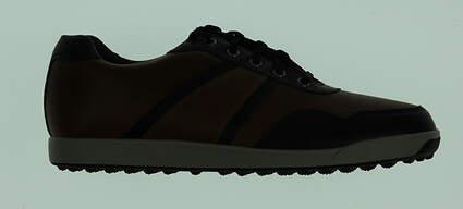 New Mens Golf Shoe Footjoy Contour Casual Medium 10.5 Brown MSRP $140