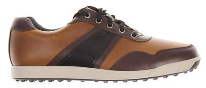 New Mens Golf Shoe Footjoy Contour Casual Medium 10 Brown MSRP $140