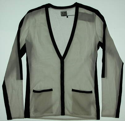 New Womens Adidas Golf Cardigan Medium M White MSRP $80