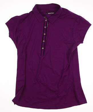 New Womens SUNICE Golf Millicent Polo Large L Purple (Lotus Flower / Deep Plum) MSRP $80 831560