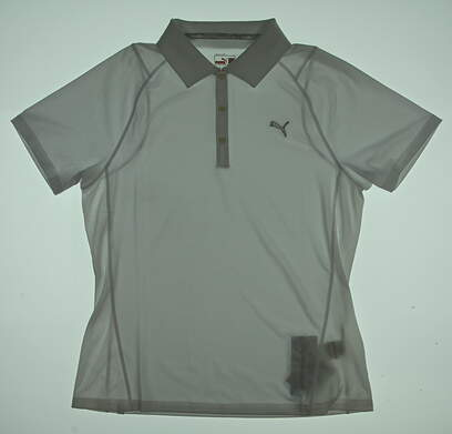 New Womens Puma Golf Polo Large L White MSRP $65