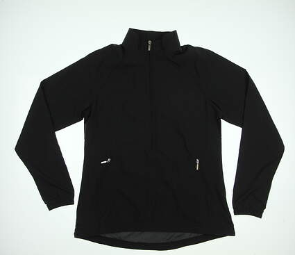New Womens Cutter & Buck Golf Jacket Small S Black MSRP $65