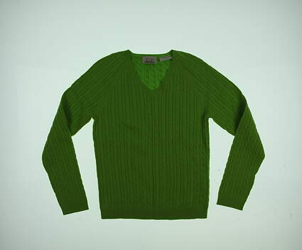 New Womens EP Pro Golf Sweater Small S Green MSRP $80