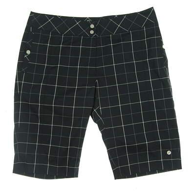 New Womens EP Pro Reflections Golf Shorts Size 10 Black MSRP $90 0218SEB