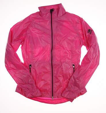 New W/ Logo Womens Zero Restriction Darcy Golf Wind Jacket Small S Pink MSRP $130