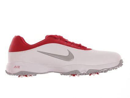 New Mens Golf Shoe Nike Air Rival 4 7.5 White/Red MSRP $80