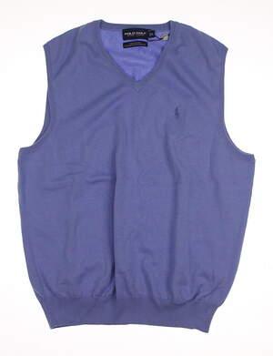 New Mens Ralph Lauren Golf Sweater Vest Large L MSRP $100