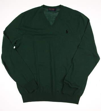 New Mens Ralph Lauren Golf Sweater Large L Green MSRP $150