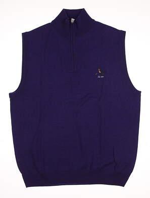 New W/ Logo Mens Ralph Lauren Golf Sweater Vest Medium M Purple MSRP $151