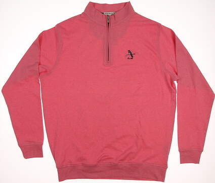 New W/ Logo Mens Peter Millar 1/4 Zip Golf Pullover Large L Pink MSRP $125