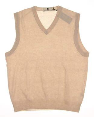 New Mens Ashworth Golf Sweater Vest Large L MSRP $175