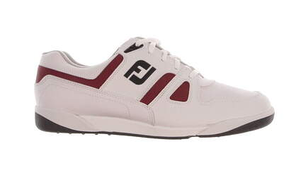 New Mens Golf Shoe Footjoy Greenjoys 10 White/Red MSRP $120