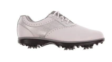 New Womens Golf Shoe Footjoy eMerge Medium 6.5 White/Grey MSRP $90