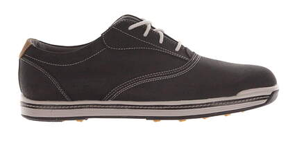 New Mens Golf Shoe Footjoy Contour Casual Medium 9.5 Black MSRP $140
