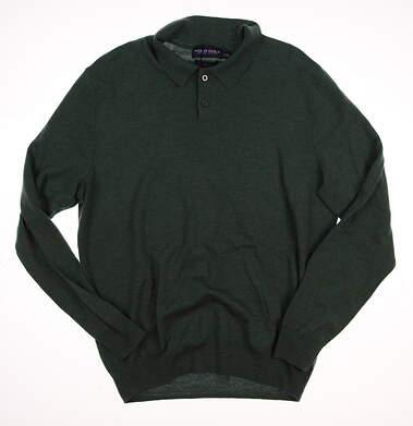 New Mens Ralph Lauren Golf Sweater Medium M Green MSRP $175