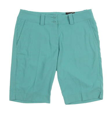 New Womens Nike Golf Shorts Size 6 Teal MSRP $70 618148
