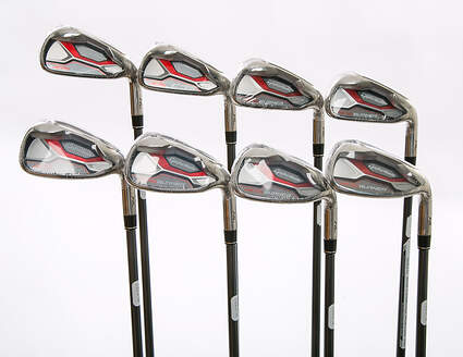 Mint TaylorMade Aeroburner HL Iron Set 4-PW GW TM AeroBurner REAX 60 Graphite Stiff Right Handed 38.25 in