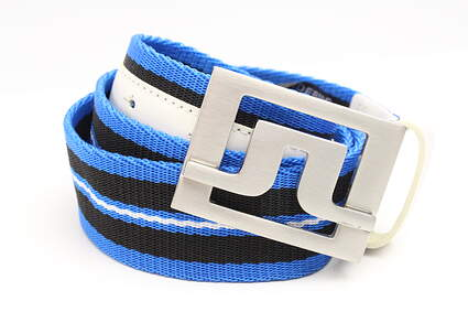 New Mens J. Lindeberg Golf Belt Size 32 Blue/White/Black MSRP $76