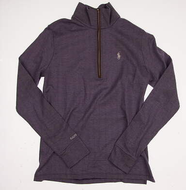 New Womens Ralph Lauren Polo Golf Pima Cotton 1/2 Zip Pullover Medium M Purple MSRP $145