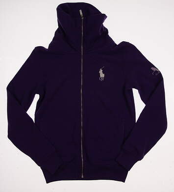 New W/ Logo Womens Ralph Lauren Polo Golf Full Zip Sweatshirt Small S Purple MSRP $145
