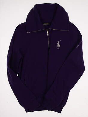 New W/ Logo Womens Ralph Lauren Polo Golf Full Zip Sweatshirt Large L Purple MSRP $145