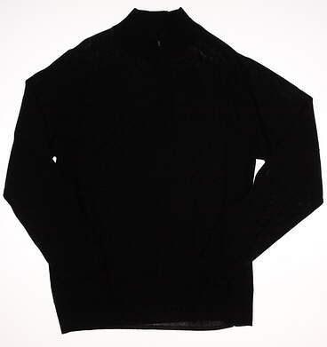 New Mens Dunning Merino 1/4 Zip Golf Sweater Large L Black MSRP $125