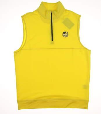 New W/ Logo Mens Dunning Golf Vest Medium M Yellow MSRP $78