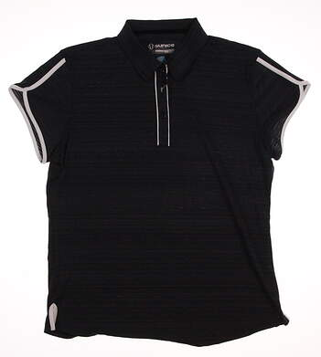 New Womens SUNICE Golf Polo X-Large XL Black MSRP $70