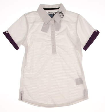 New Womens SUNICE Golf Polo Small S White MSRP $65