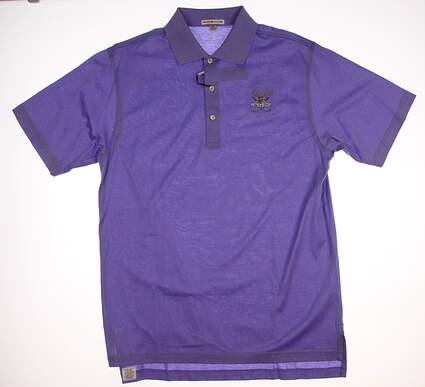 New W/ Logo Mens Peter Millar Golf Polo Medium M Purple MSRP $85