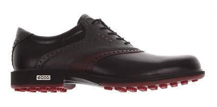 New Mens Golf Shoe Ecco Tour Hybrid 8 Black/Red MSRP $280