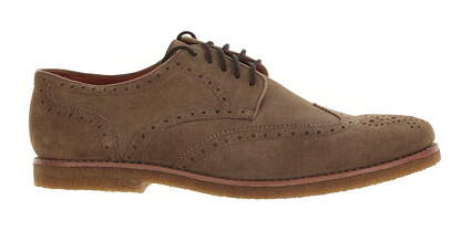 New Mens Golf Shoe Peter Millar Wingtip 11.5 Almond MSRP $300