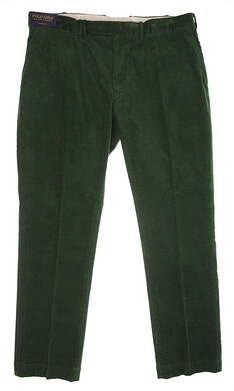 New Mens Ralph Lauren Polo Golf Range Fit Corduroy Pants 38x32 Green MSRP $98
