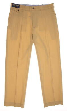 New Mens Ralph Lauren Polo Golf Stretch Wool Links Fit Pants 34x30 Khaki MSRP $225