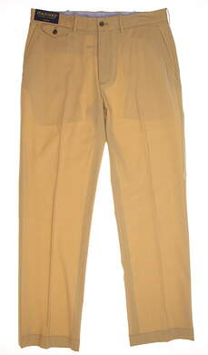 New Mens Ralph Lauren Polo Golf Stretch Wool Links Fit Pants 34x32 Khaki MSRP $225
