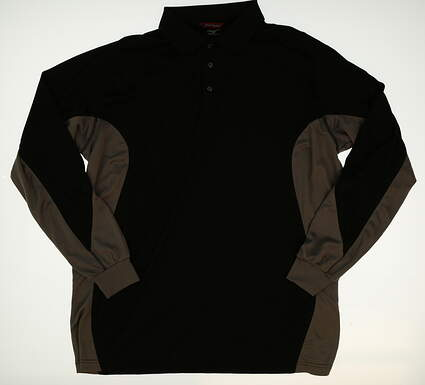 New Mens Mizuno Long Sleeve Golf Polo X-Large XL Black MSRP $88