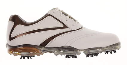 New Womens Golf Shoe Footjoy Sport Medium 8 White / Brown MSRP $180 93113