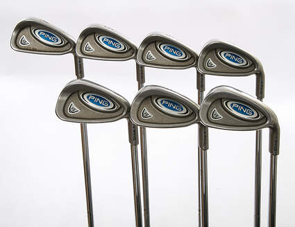 Ping i5 Iron Set 4-PW Stock Steel Shaft Steel Stiff Right Handed Blue Dot 38 in