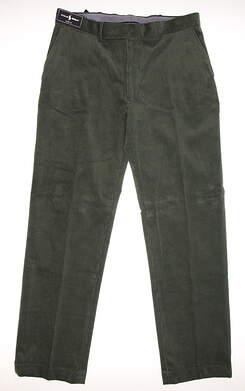 New Mens Ralph Lauren Corduroy Pants 34x32 Green MSRP $98