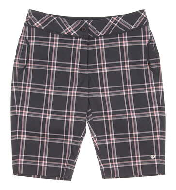 New Womens EP Pro Sport Impressions Gaugin Plaid Slim Shorts Size 4 Granite Multi MSRP $92 8218SDB