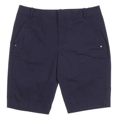 New Womens Ralph Lauren Polo Golf Cotton-Poly Shorts Size 4 Navy Blue MSRP $98