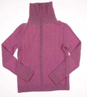 New Womens Ralph Lauren Golf Sweater Large L Purple MSRP $498