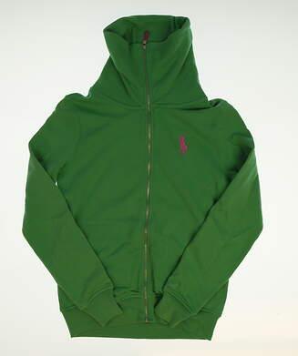 New Womens Ralph Lauren Full Zip Golf Sweatshirt Small S Green MSRP $125