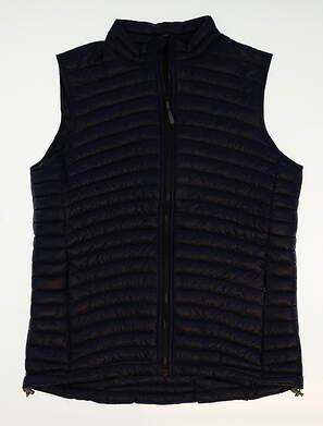New Womens Peter Millar Golf Vest Large L Blue MSRP $130