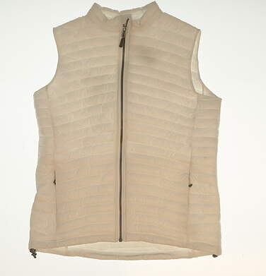 New Womens Peter Millar Golf Vest Large L White MSRP $130