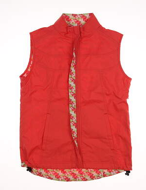 New Womens Peter Millar Golf Vest Medium M Orange MSRP $119