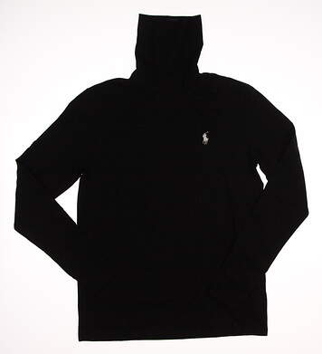 New Womens Ralph Lauren Golf Sweater Large L Black MSRP $98