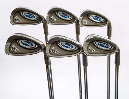 Ping i5 Iron Set 5-PW Stock Steel Shaft Steel Stiff Right Handed White Dot 38 in
