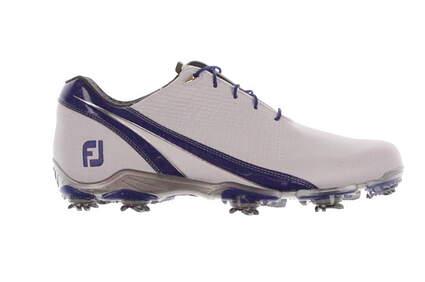 New Mens Golf Shoe Footjoy DNA Medium 10.5 White/Blue MSRP $200