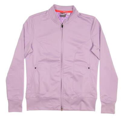 New Womens Puma Full Zip Mock Neck Large L Purple MSRP $80